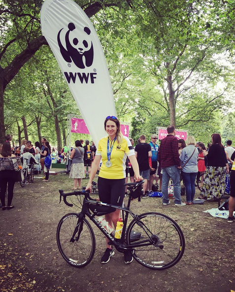 Lauren completed the Ride London 100